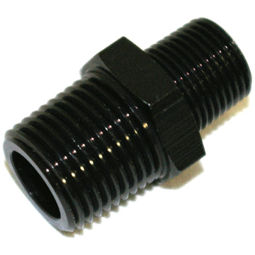 "NPT to NPT Adapter, 1/2"" NPT to 3/8"" NPT Black"
