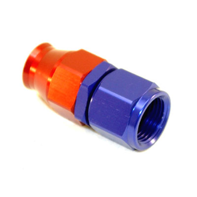 Stainless Steel Line Straight Adaptor, -4 AN Red/Blue